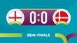 england vs denmark match vector illustration Football euro 2020 championship