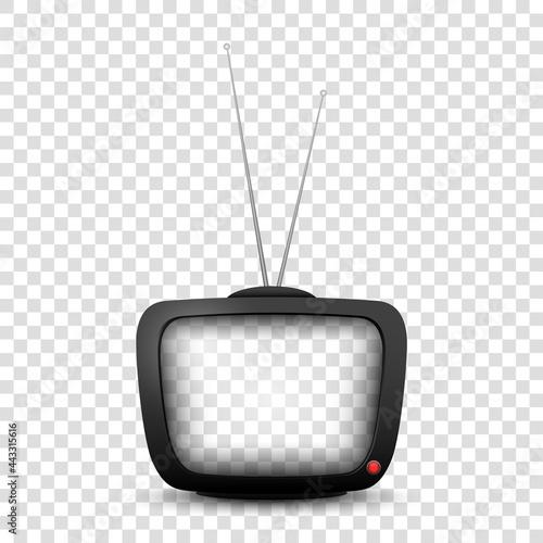 Murais de parede Old realistic TV. Retro television mock up