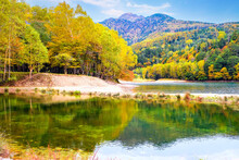 紅葉の菅沼と日光白根山