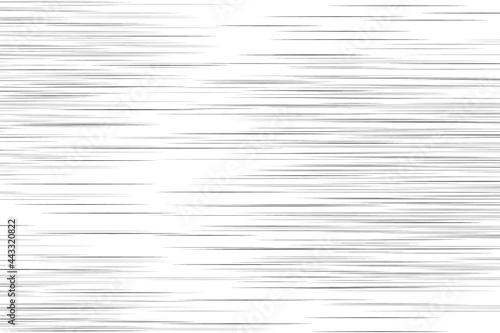 Fotografiet Horizontal speed lines. Vector illustration.Background.