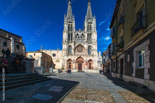 Fotografie, Tablou Catedral de Burgos fachada oeste