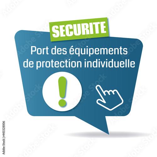 Photo Logo port des équipements de protection individuelle.
