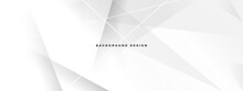 White Texture Background Template. Space Design Concept. Decorative Web Layout Or Poster, Banner.