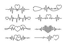 Cardiogram Heartbeat Tattoo Line Design