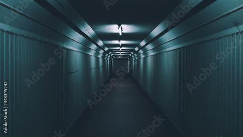 Fotografija Empty Hallway with Lights Turned on