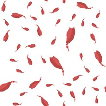 Hand Drawn Seamless Pattern Brush Strokes Is Red Color