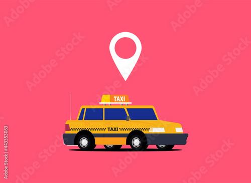 Fotografia Taxi graphic design in flat style