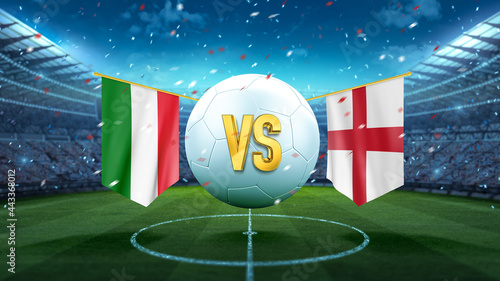 Tableau sur Toile Italy vs England