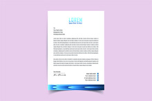 Modern Creative & Clean Business Style Letterhead Of Your Corporate Project Design To Print With Vector & Illustration. Letterhead Design For Your Business, Print Ready, Corporate Identity Letterhead.