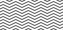 Abstract Seamless Black And White Pattern. Fabric Regular Texture Zig-zag Black White Background. Modern Design