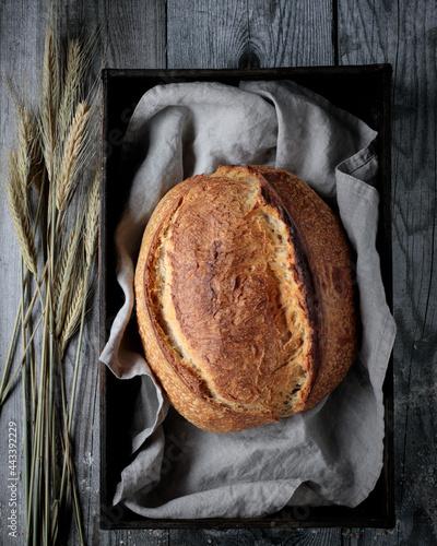 Fotografie, Obraz Sourdough bread loaf