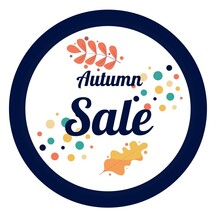 Autumn Discount In A Round Blue Frame With Yellow Foliage
