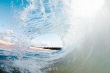 Sea Waves Rolling Up In Ocean