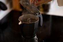 Making Coffee In An Italian Coffee Maker