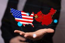 Usa And China Trade  Partner Maps