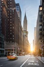 Chrysler Building At Sunset In Midtown Manhattan, New York City, USA