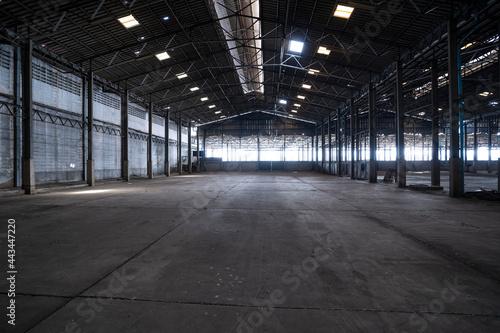 Obraz na plátně abandoned warehouse background