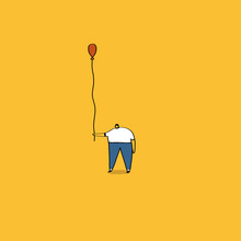Person Holding Balloon