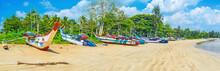 Panorama Of Weligama Fishing Harbor, Sri Lanka