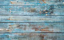 Blue Rustic Wooden Background