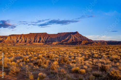 Fotografering landscape of a mountain steppe.