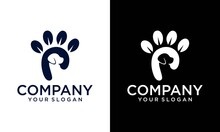 Logo Inspiration: A Dog Combined With The Letter P. Logo Is Suitable For Businesses, Animals, Pets, Simple Letter P Pets Care Logo Design, Negative Space Unique Concept, Dog Head, Animal