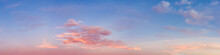 Beautiful Panoramic View Of Colorful Cloudscape During Dramatic Sunset. Taken In Vancouver, British Columbia, Canada.