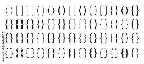 Canvas Set of Text brackets