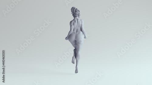 Fotografie, Obraz Beautiful Body Positivity Woman Plus Size Strong Female Thick Strong Superhero P
