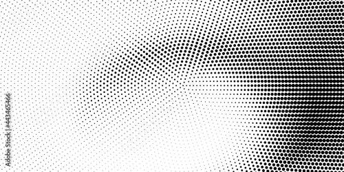 Canvas Halftone monochrome texture with dots