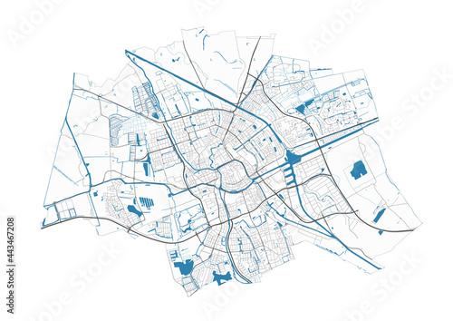 Tapety Minimalistyczne  mapa-groningen-szczegolowa-mapa-obszaru-administracyjnego-miasta-groningen-panorama-miasta