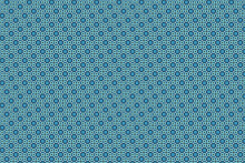 Geometric Tiles Pattern. Seamless Blue Tile Pattern And White Sparkle.Sparkle White On Blue Geometric Tile Water Drop Shape And Square Shape Seamless Repeat Pattern Background.