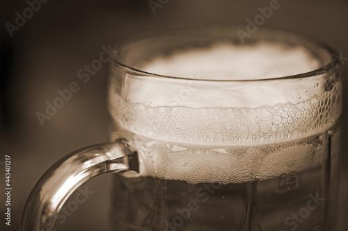 Foto Beer - Bier - Reinheitsgebot - urig - sepia - Halbe - Bayern