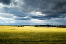 Stormy Clouds Above Field - Czech Republic, Czechia