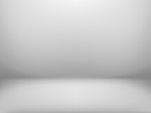 Abstract Studio Room Background. White Studio Backdrop.