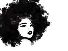 Black Woman Afro Hair