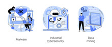 Spyware Development Abstract Concept Vector Illustrations.