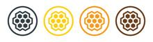 Honeycomb, Honey Comb Hexagonal Icon Vector Illustration.