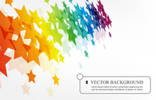 Vector Abstract Rainbow Star White Background.LGBT Wallpaper Template.