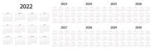 Calendar 2022 2023 2024 2025 2026 2027 2028 2029 2030 Week Start Monday Corporate Design Planner Template.