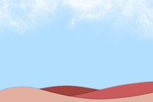 Abstract Blue Sky With Tiny Cloud Template For Background.