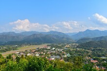 View Point From Phra That Doi Kong Mu Temple, The Top Of The Hill Provides Panoramic View Of Maehongson City.