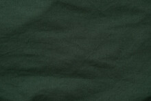 Surface Of Blank Dark Green Fabric For Background