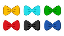 Bow Tie Collection Vector Icon