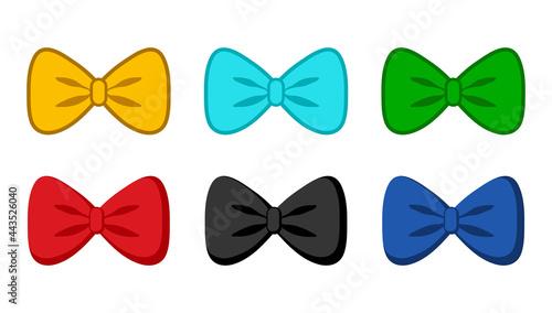 Foto bow tie collection vector icon
