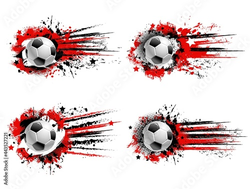 Slika na platnu Soccer football sport grunge banners
