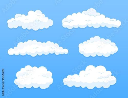 Fototapeta Flat Design Cloud Sky Collection_2