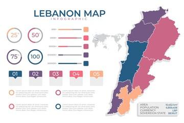 Flat Design Lebanon Map_3