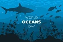 Flat World Oceans Day Illustration_2
