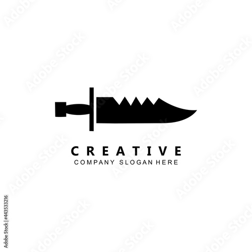 kung fu samurai fighting tools logo template vector icon Fototapet